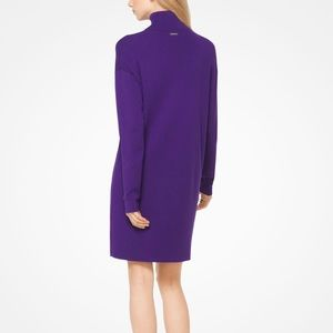 NWT Michael Kors Purple Turtleneck Sweater Dress